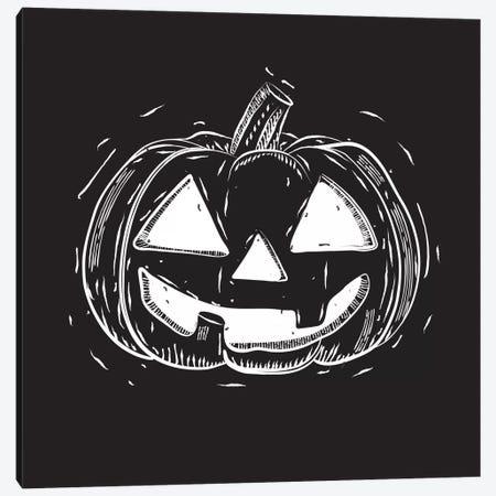 Spooky Cut Jack-O'-Lantern Canvas Print #SPK3} by 5by5collective Art Print