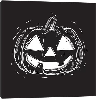Spooky Cut Jack-O'-Lantern Canvas Art Print
