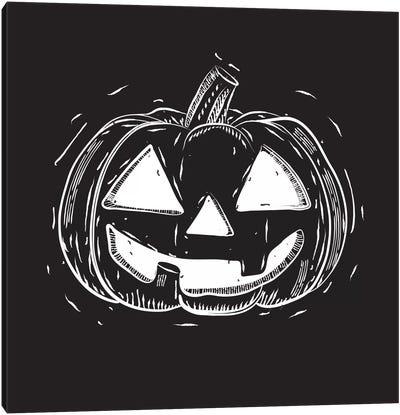 Spooky Cut Jack-O'-Lantern Canvas Art Print