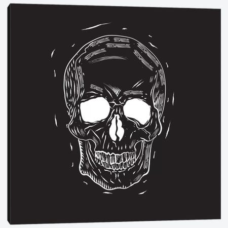 Spooky Cut Skull Canvas Print #SPK4} by 5by5collective Canvas Artwork
