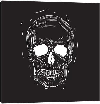 Spooky Cut Skull Canvas Art Print
