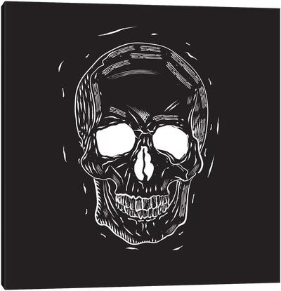 Spooky Cut Skull Canvas Art Print
