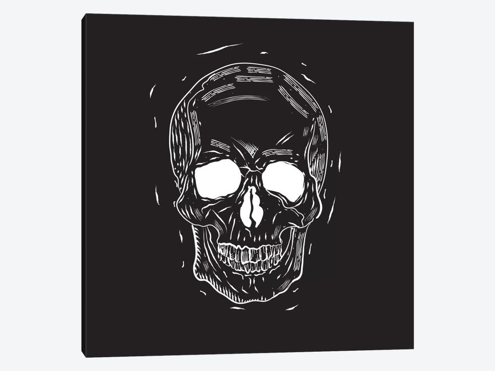 Spooky Cut Skull by 5by5collective 1-piece Canvas Print