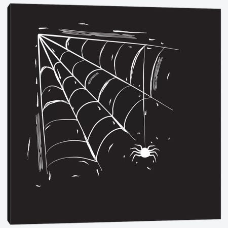 Spooky Cut Spider Web Canvas Print #SPK5} by 5by5collective Canvas Wall Art