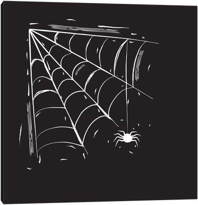 Spooky Cut Spider Web Canvas Art Print