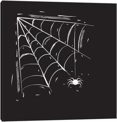 Spooky Cut Spider Web Canvas Art Print