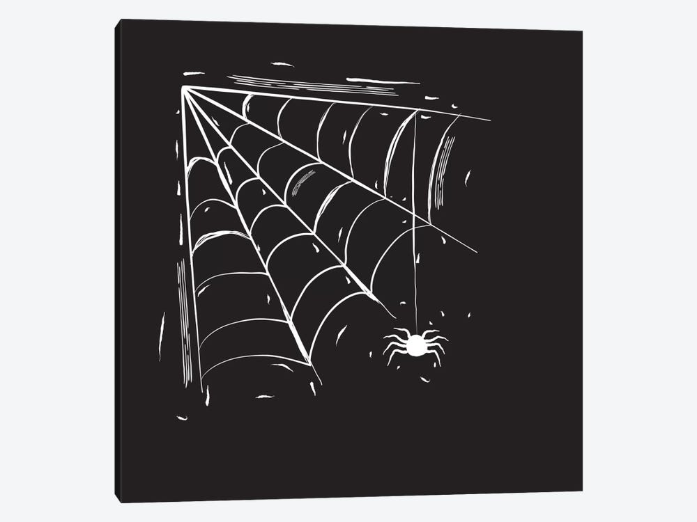 Spooky Cut Spider Web by 5by5collective 1-piece Canvas Wall Art