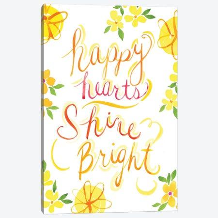 Happy Hearts Shine Bright Canvas Print #SPN101} by Stephanie Ryan Canvas Wall Art