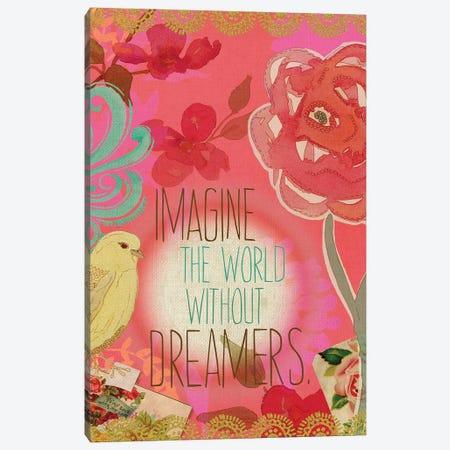 Imagine the World Canvas Print #SPN106} by Stephanie Ryan Art Print