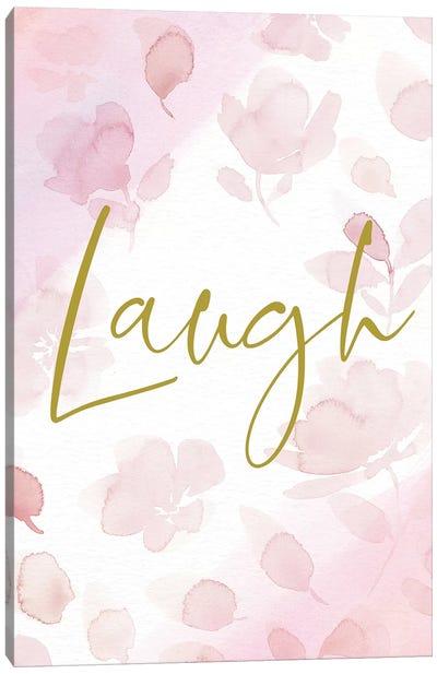 Laugh Canvas Art Print