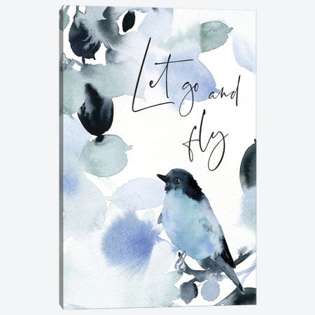 Let Go and Fly Canvas Print #SPN116} by Stephanie Ryan Canvas Artwork