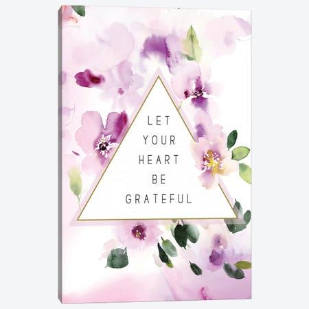 Let Your Heart be Grateful Canvas Print #SPN124} by Stephanie Ryan Canvas Print