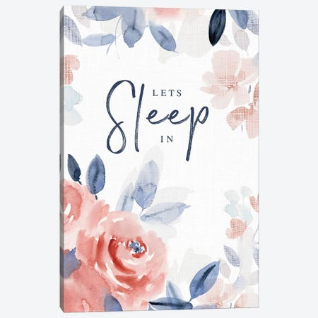 Let's Sleep In Canvas Print #SPN126} by Stephanie Ryan Canvas Art Print