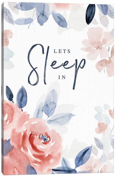 Let's Sleep In Canvas Art Print