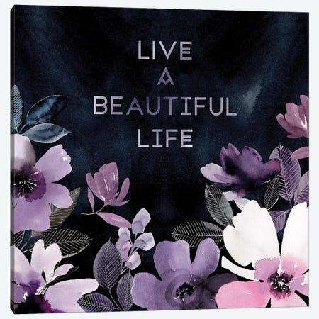 Live a Beautiful Life 3-Piece Canvas #SPN132} by Stephanie Ryan Art Print