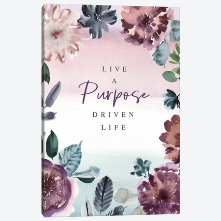 Live a Purpose 3-Piece Canvas #SPN133} by Stephanie Ryan Art Print