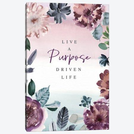 Live a Purpose Canvas Print #SPN133} by Stephanie Ryan Art Print