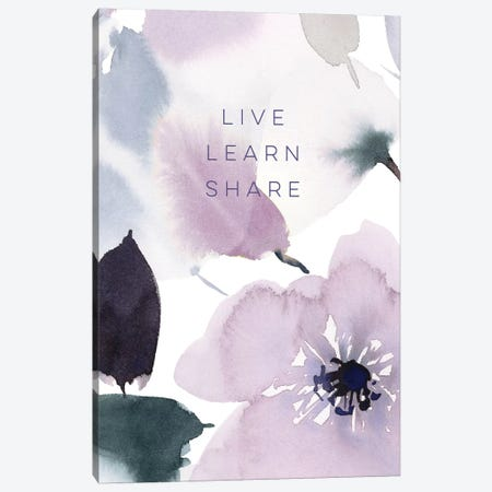 Live Learn Share Canvas Print #SPN136} by Stephanie Ryan Canvas Wall Art