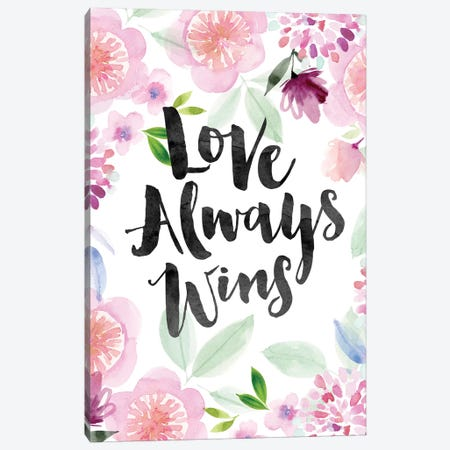 Love Always Wins Canvas Print #SPN138} by Stephanie Ryan Canvas Print