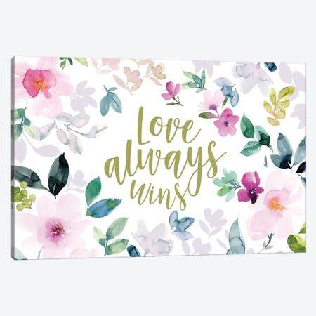 Love Always Wins II Canvas Print #SPN139} by Stephanie Ryan Art Print