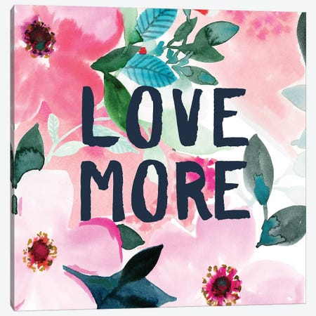 Love More Purple Pink Canvas Print #SPN144} by Stephanie Ryan Canvas Print