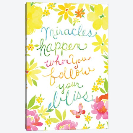 Miracles Happen Canvas Print #SPN155} by Stephanie Ryan Canvas Artwork