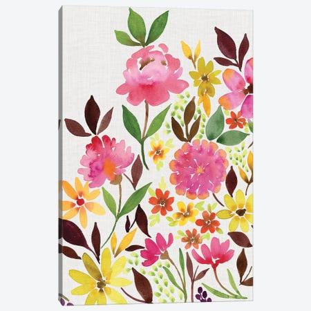 Pink Floral Bouquet II Canvas Print #SPN164} by Stephanie Ryan Canvas Print
