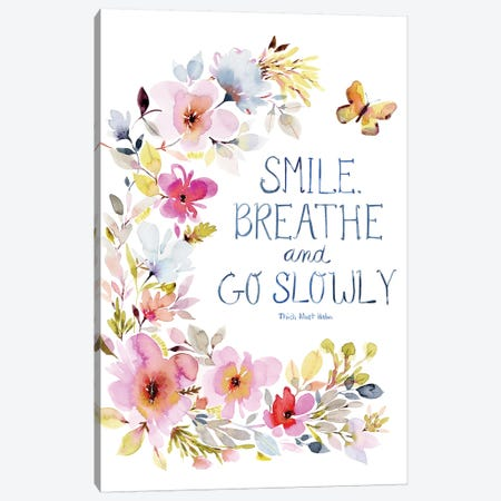 Smile Breathe Canvas Print #SPN192} by Stephanie Ryan Canvas Art Print