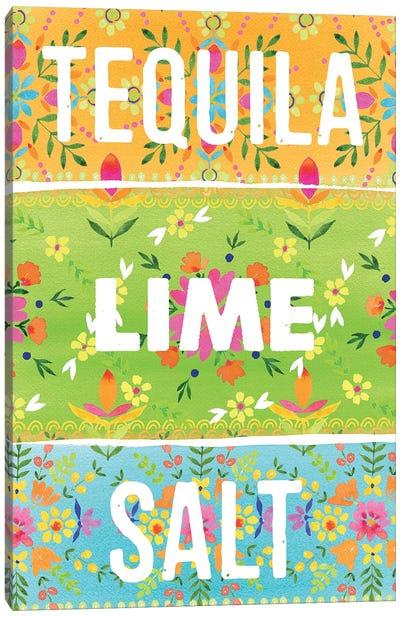 Tequila Lime Salt Canvas Art Print