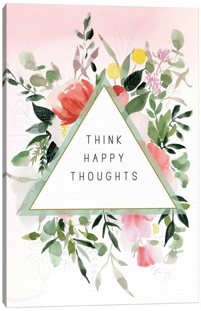 Think Happy Thoughts Canvas Art Print