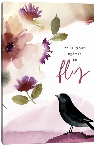 Will Your Spirit to Fly Canvas Art Print