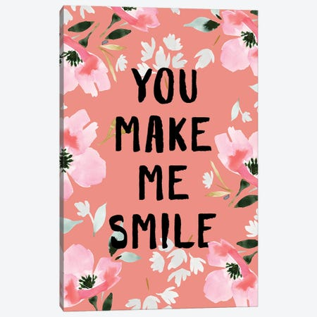 You Make Me Smile II Canvas Print #SPN227} by Stephanie Ryan Canvas Wall Art