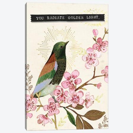 You Radiate Golden Light Bird Canvas Print #SPN228} by Stephanie Ryan Canvas Art Print
