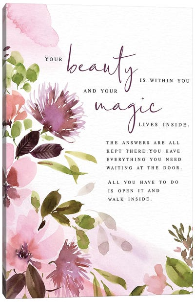Your Beauty Canvas Art Print