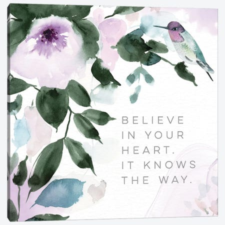 Believe in Your Heart Canvas Print #SPN27} by Stephanie Ryan Canvas Print