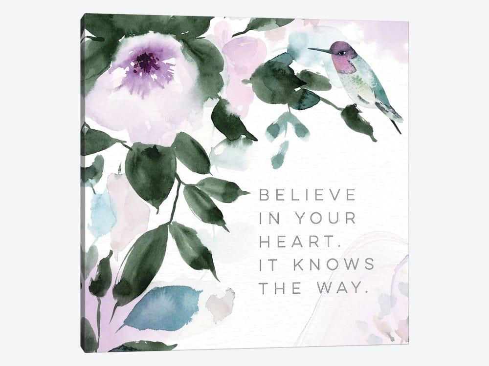 Believe in Your Heart by Stephanie Ryan 1-piece Canvas Artwork