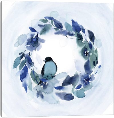 Bird Wreath Canvas Art Print