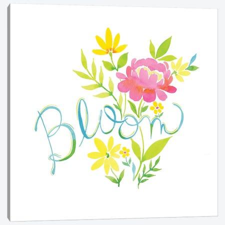 Bloom Floral 3-Piece Canvas #SPN32} by Stephanie Ryan Canvas Art Print