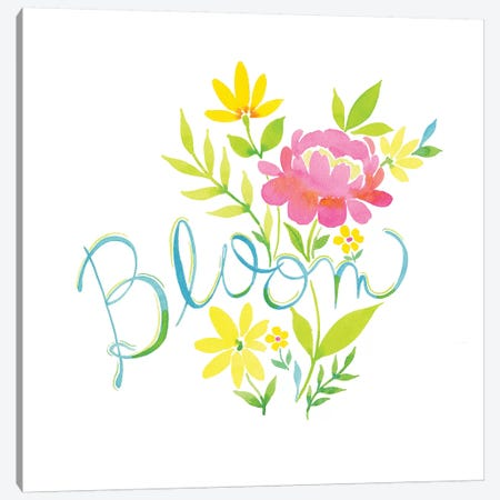 Bloom Floral Canvas Print #SPN32} by Stephanie Ryan Canvas Art Print