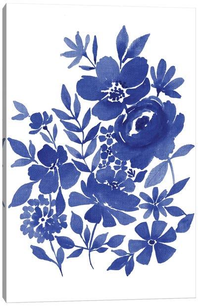 Blue Indigo Bouquet II Canvas Art Print
