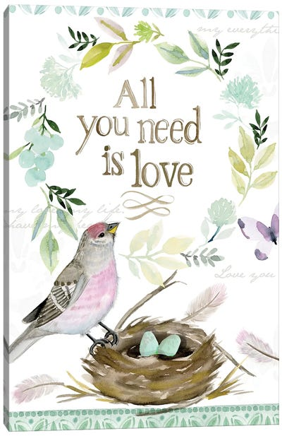 All You Need is Love Nest Canvas Art Print