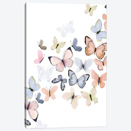 Butterfly Path Canvas Print #SPN41} by Stephanie Ryan Canvas Art