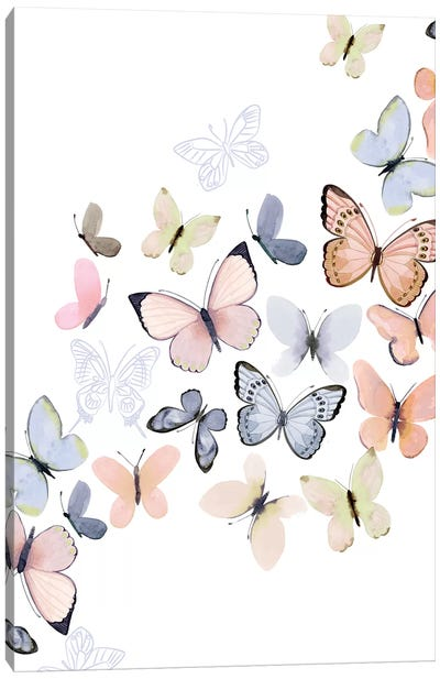 Butterfly Path Canvas Art Print