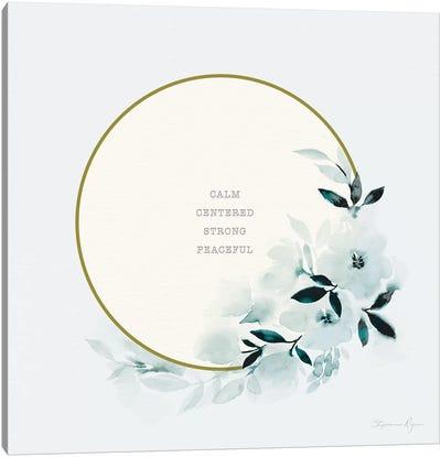 Calm Centered Canvas Art Print