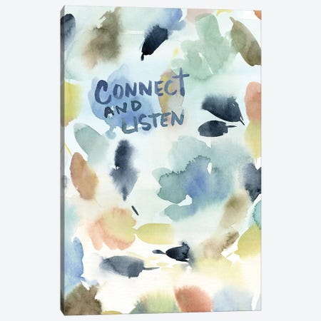 Connect and Listen II Canvas Print #SPN51} by Stephanie Ryan Art Print
