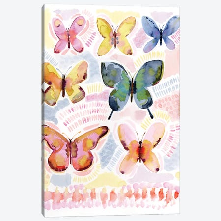Dreamer Butterflies Canvas Print #SPN71} by Stephanie Ryan Art Print