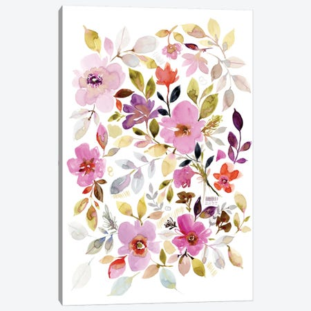 Flora II Canvas Print #SPN89} by Stephanie Ryan Canvas Art