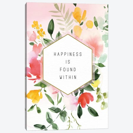 Happiness Found Within Canvas Print #SPN98} by Stephanie Ryan Canvas Print