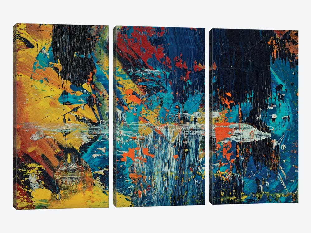 Race Car by Spencer Rogers 3-piece Canvas Print
