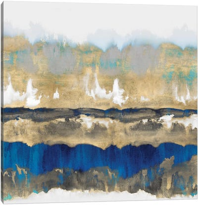 Gradations In Blue & Gold Canvas Art Print